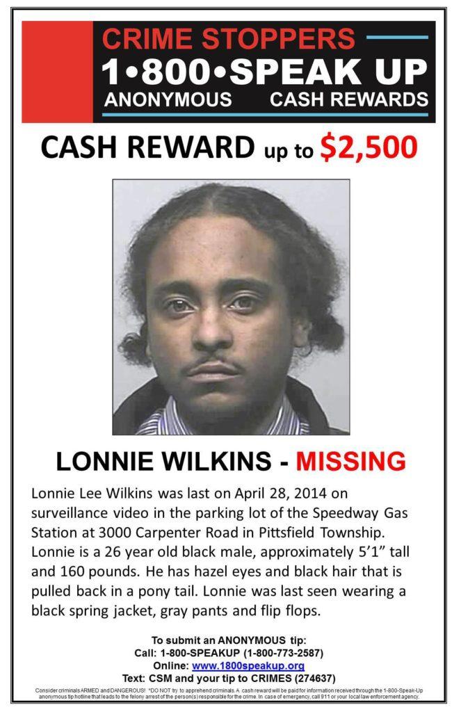 Lonnie Wilkins Missing Michigan